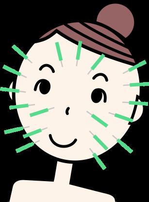 「顔鍼 花粉 イラスト」の画像検索結果